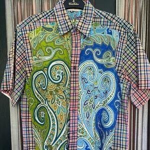 Robert Graham Short Sleeve Plaid/Paisley Shirt